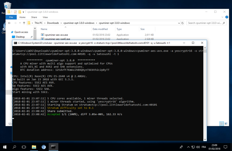 CPUMINER-OPT: Windows 64, Linux | LWOS Forum